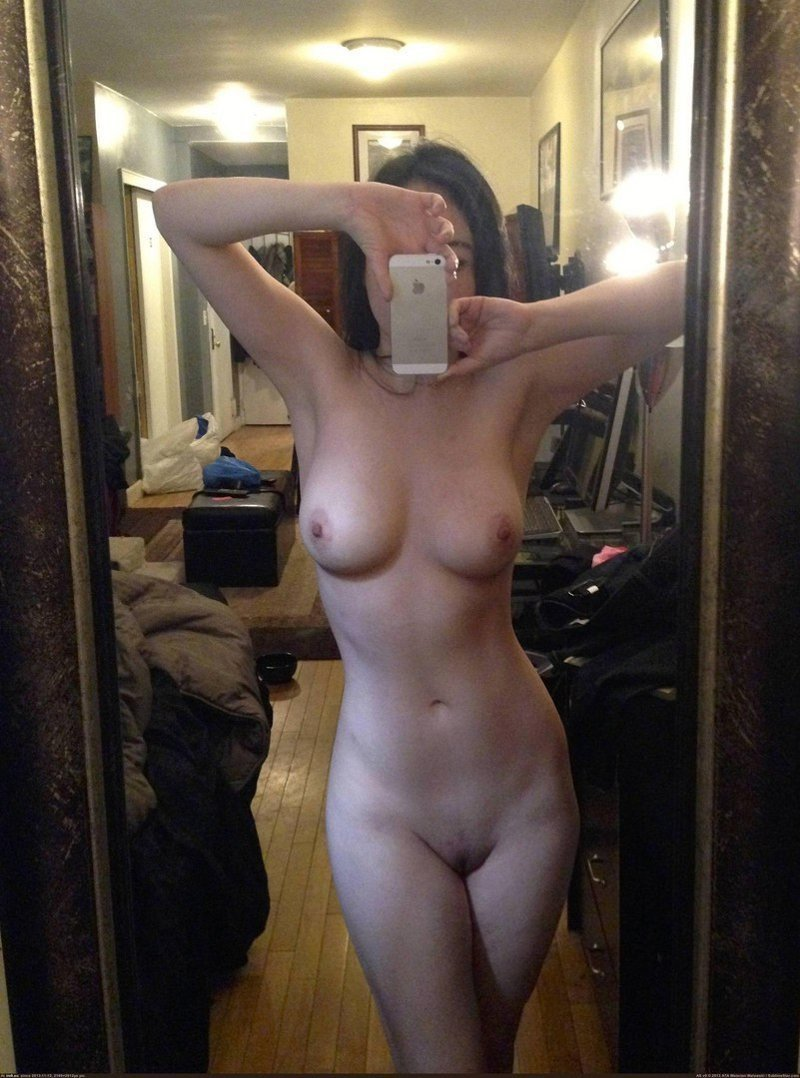 Taking pictures of herself naked
